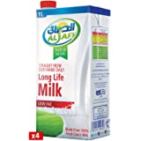 Al Safi Low Fat Long Life Milk, 4 x 1 Litre