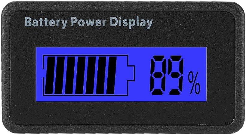 ZHITING 2pcs Moniteur de Capacit/é de Batterie 12V Indicateur de Tension Batterie au Plomb Testeur LCD Battery Indicator