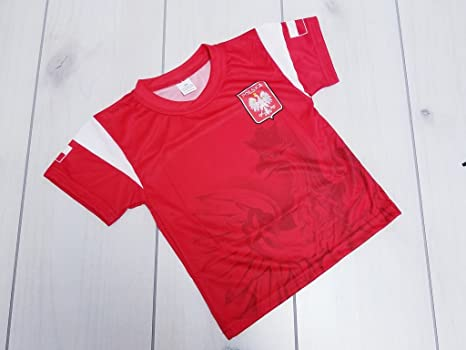 b434a1727 Amazon.com : Taste of Poland Polska Eagle Children's Soccer Jersey ...