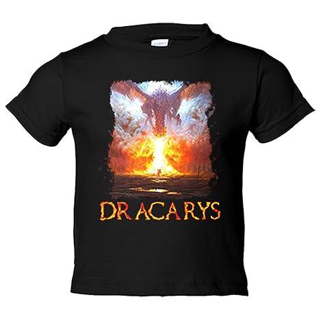 Camiseta niño Juego de Tronos Dracarys Drogon batalla Botines de Guerra - Negro, 3-