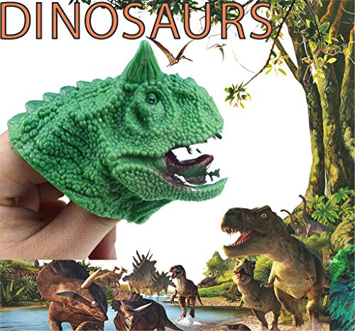 Gbell Godzilla Ceratops Green Dinosaur Hand Puppets, Kids Dino Role Play Toys, Realistic Godzilla Head Dinosaur Hand Glove Toys for Boys Girls Small Hands,1 Pcs / 5Pcs (1Pcs)