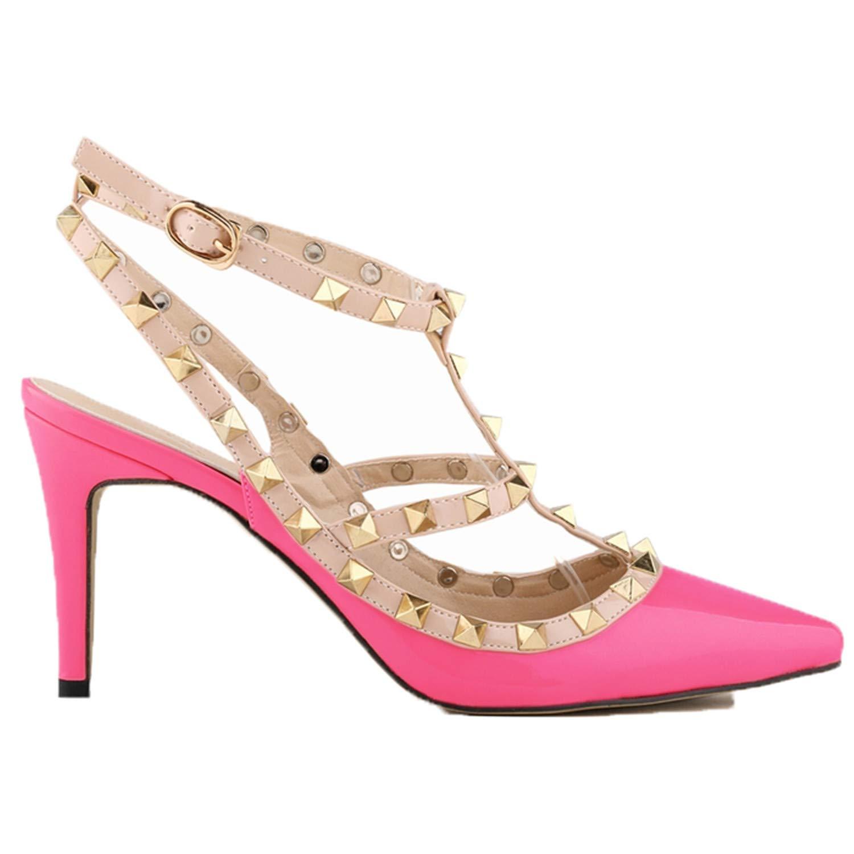 mode mode mode hommes / femmes est euochengqus orteil hasp mince talons haut talons des chaussures sandales rivet a relevé le prix de règleHommes t bien hb8285 belle couleur 4c8e13