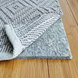 RUGPADUSA, 10' x 14', 1/3' Thick, Basics 100% Felt Rug Pad, Safe for All Floors and Finishes, Made in the USA