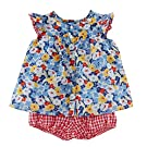 Ralph Lauren Baby Girls 2-Piece Floral Top & Shorts Set Blue Multi (9 Months)