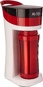 Mr. Coffee BVMC-MLRD Pour Brew Go, reg, Candy Apple red