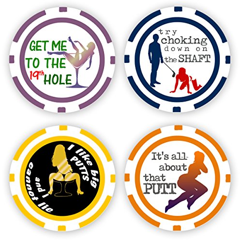 Da Vinci Golf Ball Marker Poker Chip Collection, 11.5 Gram Chips (4-Pack-D)
