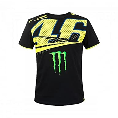 25726aa89965 Amazon.com: Valentino Rossi VR46 46 Monster T-Shirt 2018: Clothing