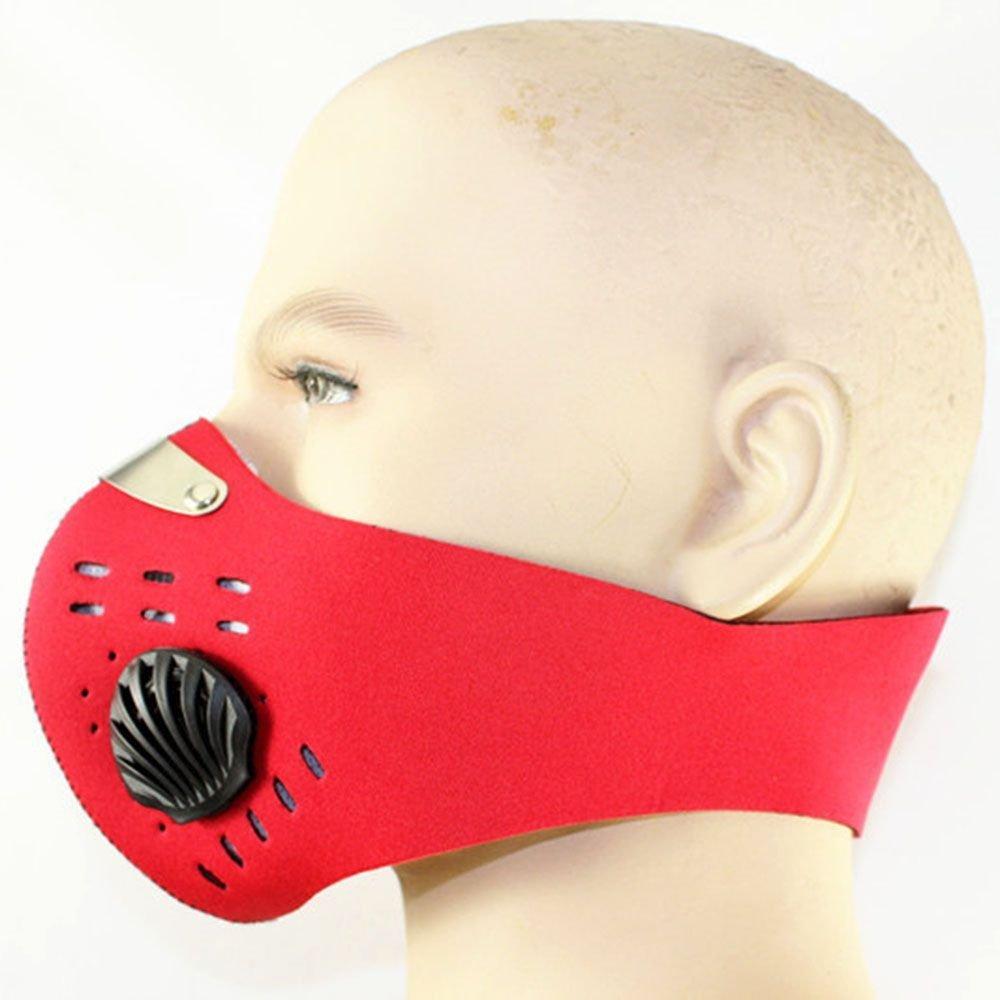 VANKER Conductores de motocicletas de la media cara Anti-polvo Máscara de filtro respirador equipo de ciclo--Rojo
