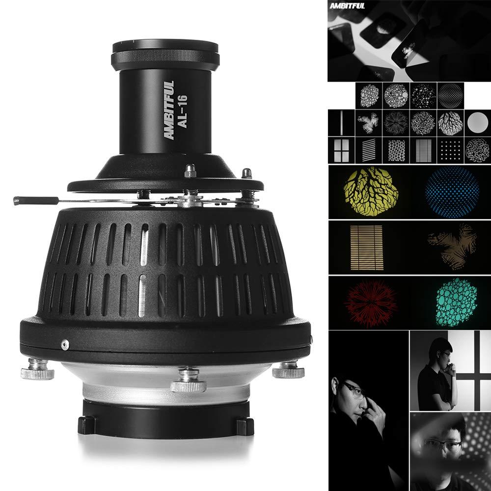 AMBITFUL Bowens Mount Optical Focalize Condenser Beam Light Cylinder Optical Focalize Art Photography Light Cylinder by AMBITFUL