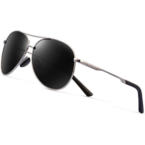 e7c0b1a44 FEIRDIO Gafas de Sol polarizadas Aviator para Hombre - Marco de Metal Mujer  - Protección UV 400 FD 2261: Amazon.es: Hogar