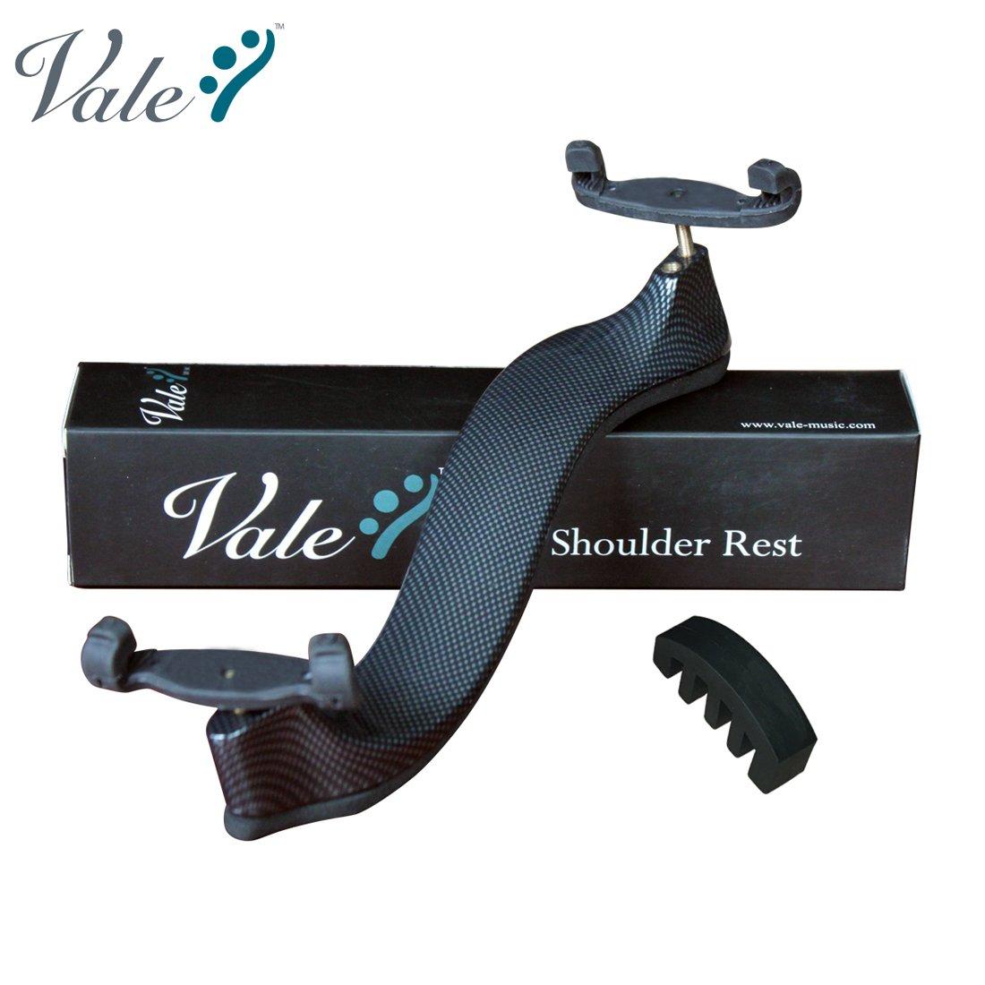 VALE Adjustable Violin Shoulder Rest with Free Violin Mute - White
