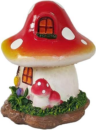 Lindas Setas Decorativas Jardin de Resina para Adornos en Miniatura Micro Paisaje, Decoración Bonsái 8x8.5x9.5cm: Amazon.es: Hogar