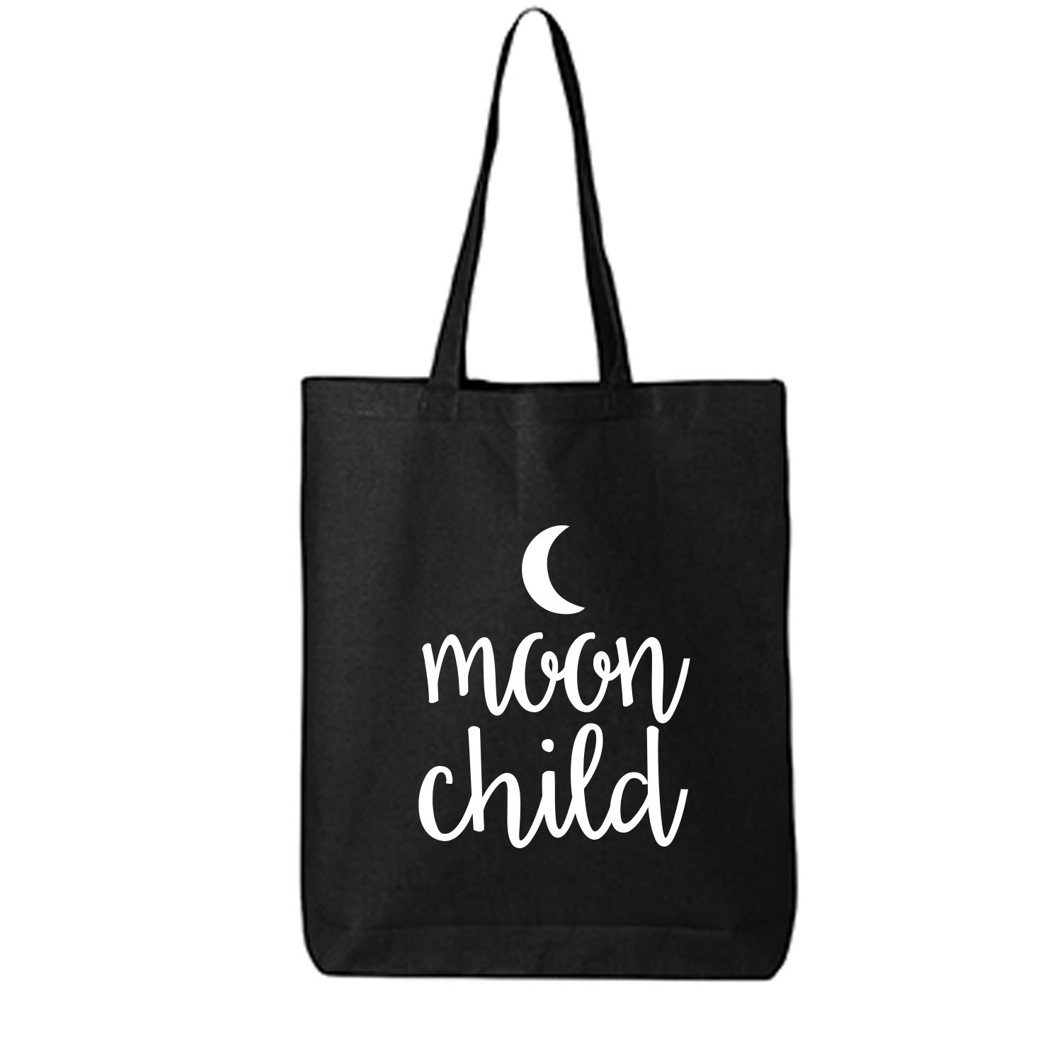 MOON CHILD Cotton Canvas Tote Bag in Black - One Size