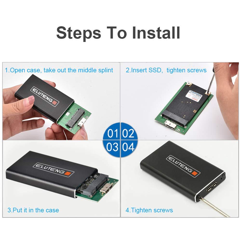 M.2 Enclosure USB 3.0 UASP SATA III Adaptador de Aluminio M2 SATA ELUTENG M2 a Adaptador USB