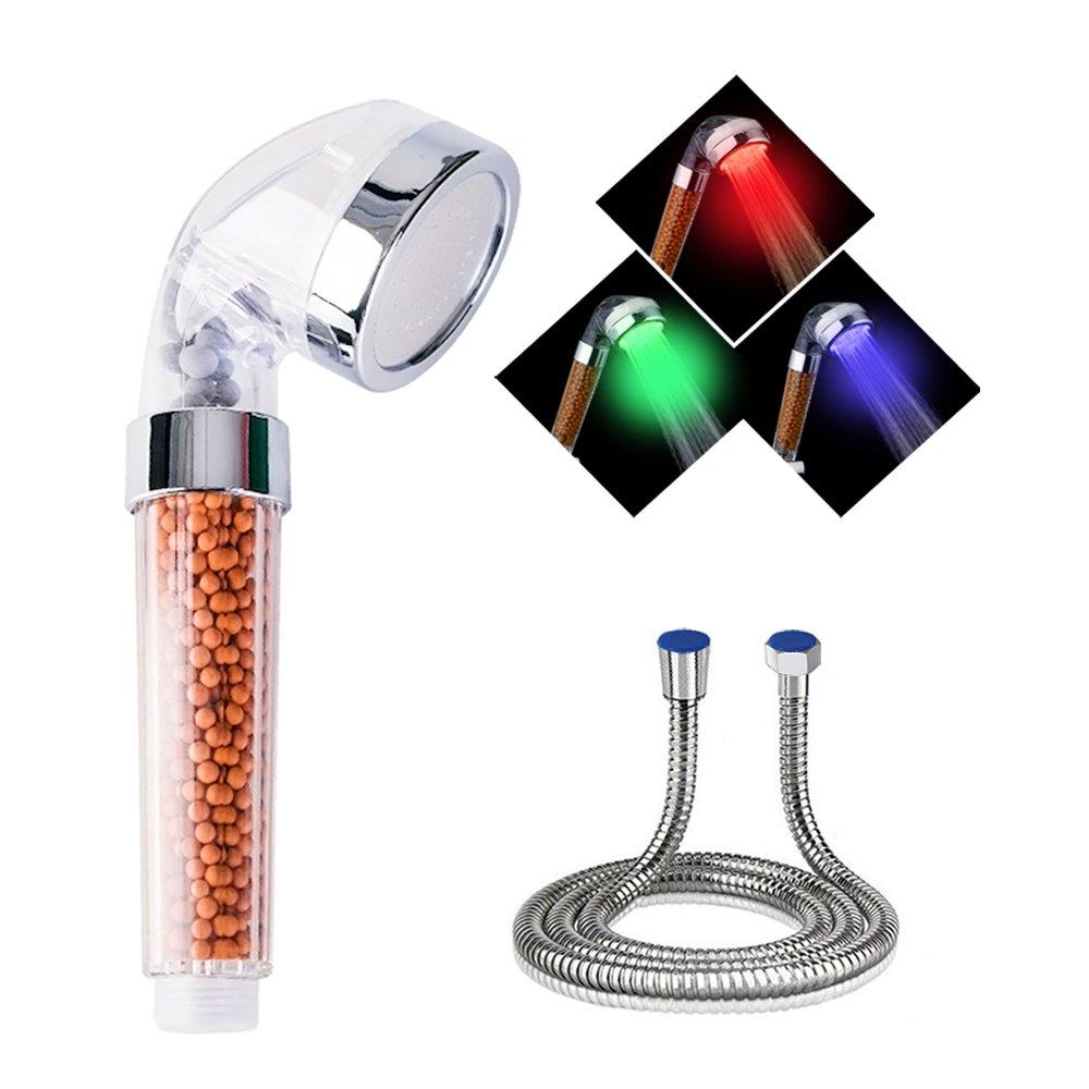 LED alcachofa de ducha, de doucha mano de Control de temperatura con 3 color