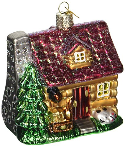 Old World Christmas Ornaments: Lake Cabin Glass Blown Ornaments for Christmas Tree