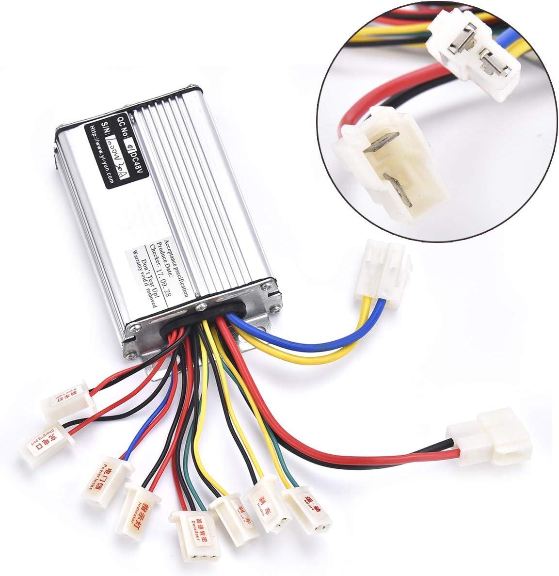 Wingsmoto Controller 48 V 1000 W Für Elektromotoroller Mit Batterieanschluss Weiß Auto