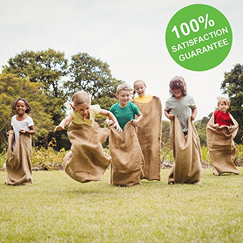 ToysOpoly Premium Burlap Potato Sack Race Bags 24'' x 40'' (Pack of 6) - of Sturdy Rugged, 100% Natural Eco-Friendly Jute | Perfect Birthday Party Game for Kids & Adults by ToysOpoly (Image #4)