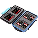 King of Flash Anti-shock Waterproof Memory Card Case Holder Hard Storage 4x CF (Compact Flash) 8x SD / SDHC (Secure Digital) MC-2
