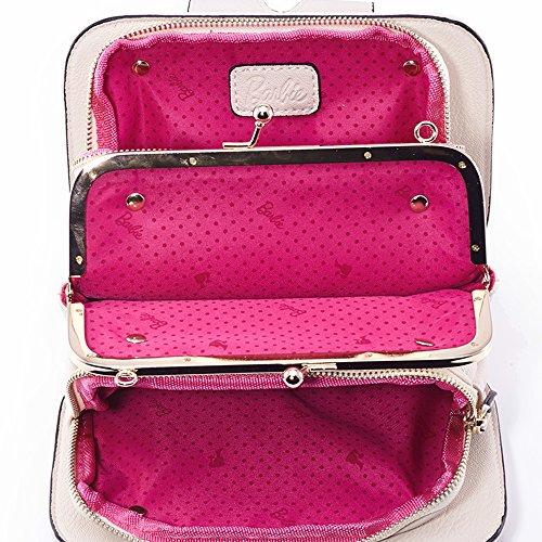Barbie BBFB292 Colección de Elegancia Bolso de Estilo Vintage Color Puro Correa de Cadena Beige