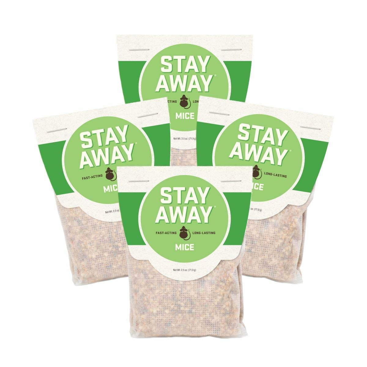 Stay Away Mice Repellent Pest Control - All Natural, Repels Mice with No Mess, and Environmentally Friendly, 12 Scent Pouches (Not for Sale in DC, NM, MS, CT, ME, SD, in, PR) by Stay Away