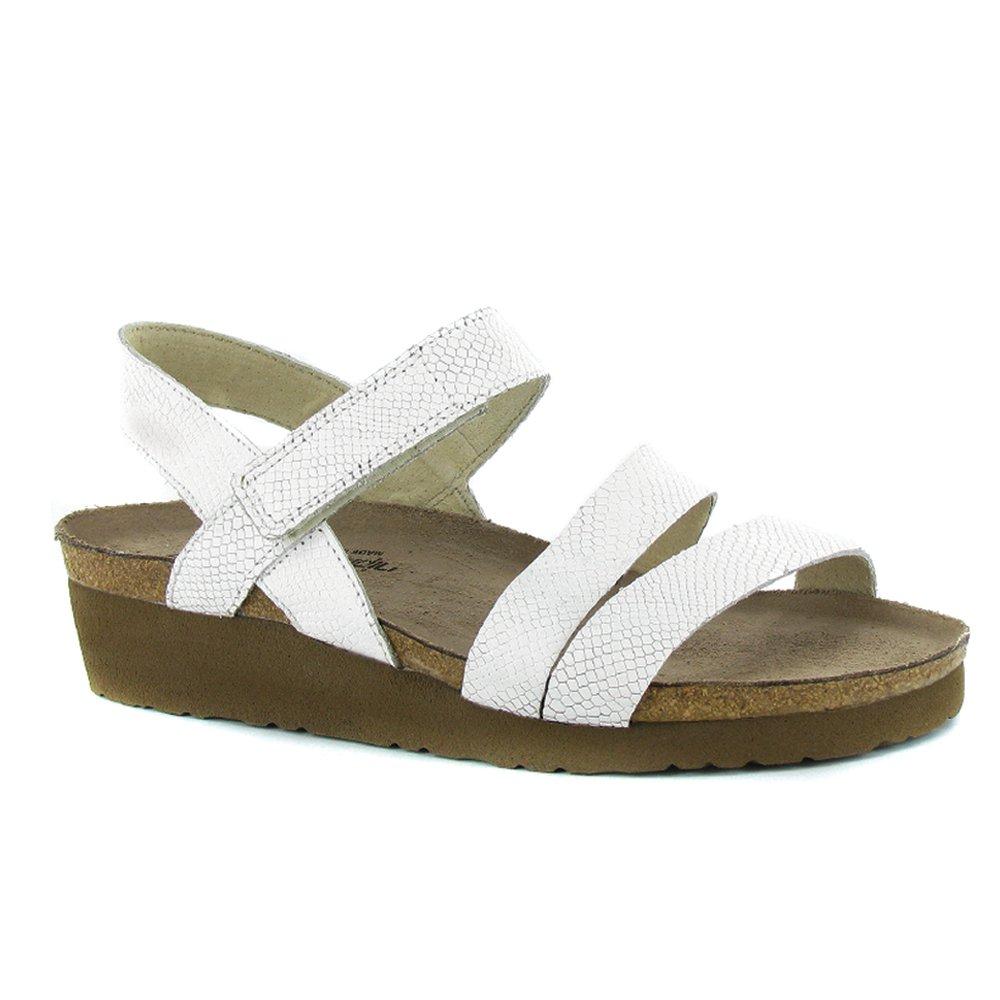 NAOT Women's Kayla Wedge Sandal B0158Z5ROA 41 M EU / 10, 10.5 B(M) US|White Snake Leather