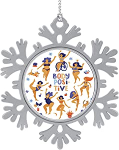 C COABALLA Round Body Positive Banner with dancings - - Russia,Cute 2020 Home Décor Hanging Snowflake Decorations Ornament Large Build 5PCS