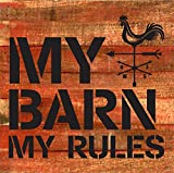 Cheap Artistic Reflections Pallet Art RE1031r Barn. My Rules, 10.5″ x 10.5″, Multicolored