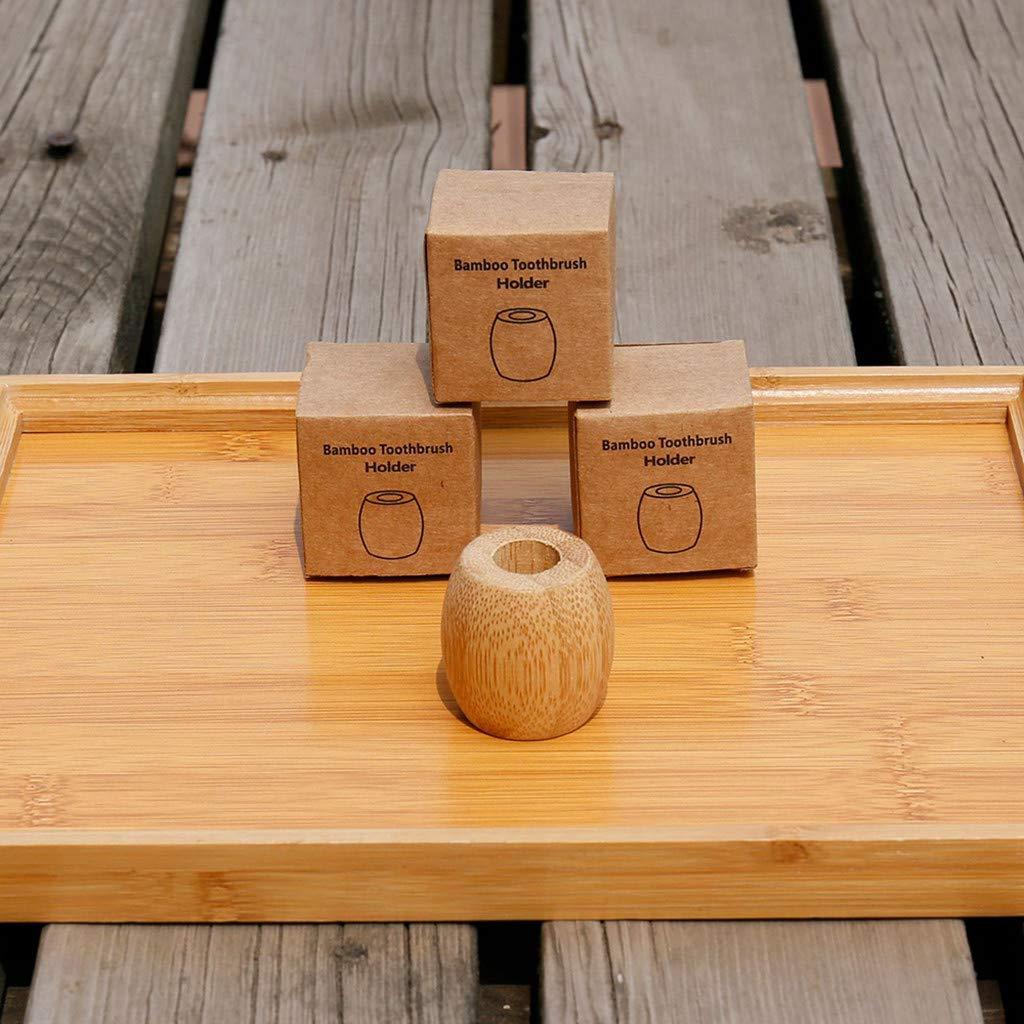 Viajes Base para Cepillo de Dientes para el hogar Camping FiedFikt Soporte de bamb/ú Natural para Cepillo de Dientes Soporte para Cepillo de Dientes port/átil Escuela