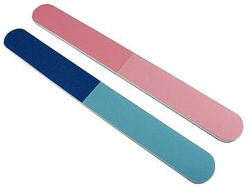 Premium Pink Blue 4 Way Nail Buffer 12 Pack By File Guru