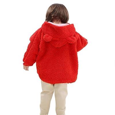 Brightup Enfant Fille Cape, Manteau à capuchon Cape, Habineige veste, vêtements chauds épais