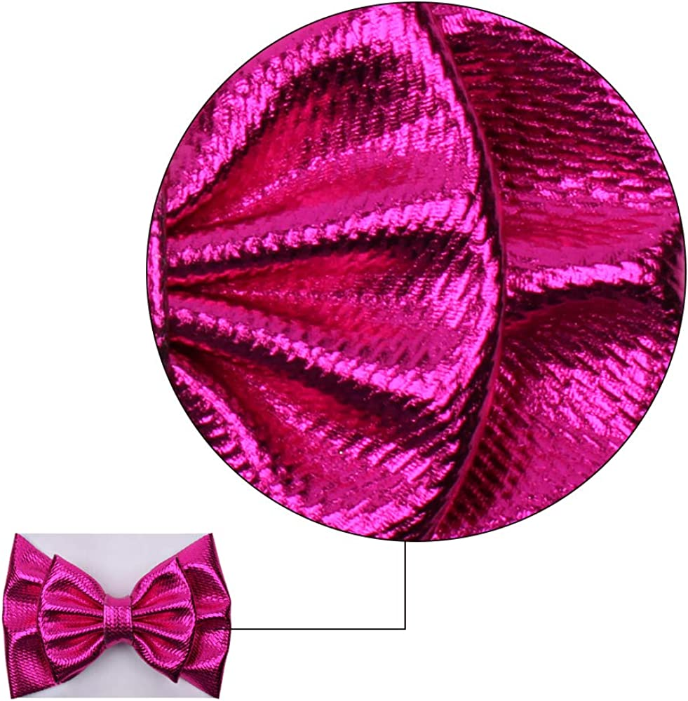 YanJie Baby Large Bows Headwrap Stretch Print Textured Fabric Top Knot Turban Headband Hair Accessories 2pcs//pack