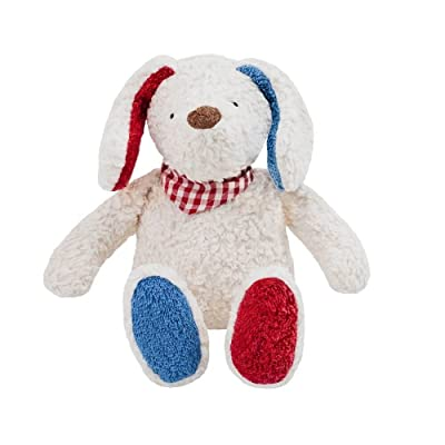 Organic Cotton White Dog Filled with Wool : Baby