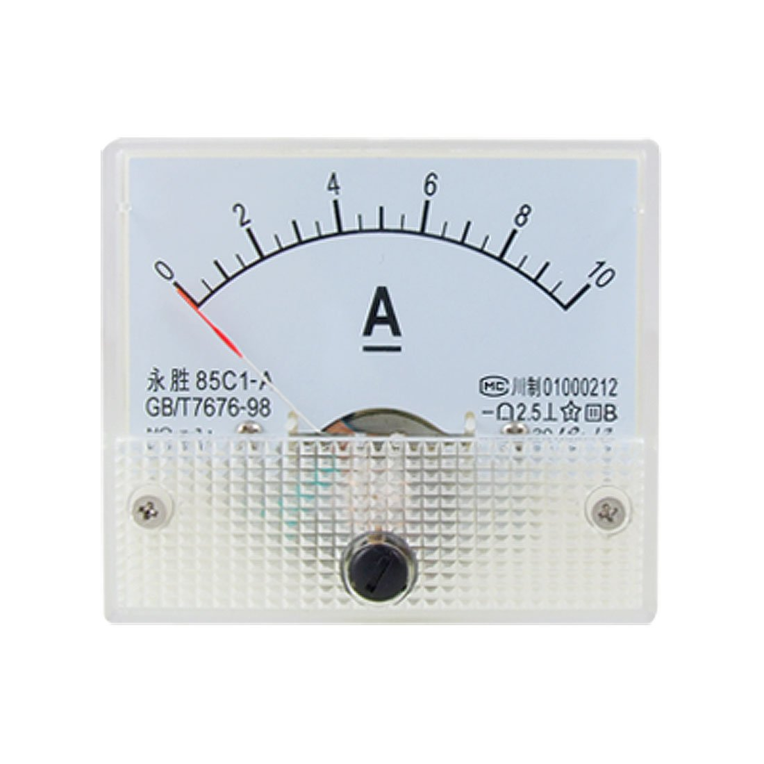 Amazon.com uxcell 85C1 DC 0-10A Rectangle Analog Panel Ammeter Gauge Automotive  sc 1 st  Amazon.com : ammeter gauge wiring - yogabreezes.com