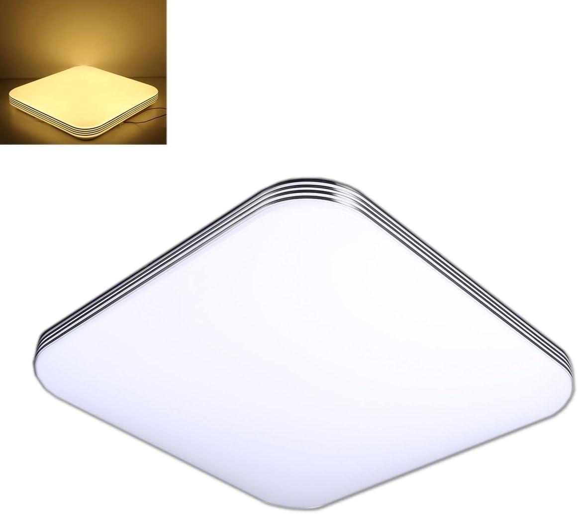 ZHMA 36W Plafonnier Blanc chaud LED Lumi/ère Square moderne pour plafond Moderne Ultraslim Plafonnier,Chambre /à coucher Cuisine Couloir Lampe de salon Lumi/ère murale Lumi/ère d/économie