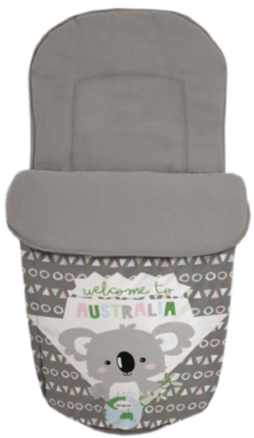 Baby Star 25500 - Saco para silla universal, color gris y blanco
