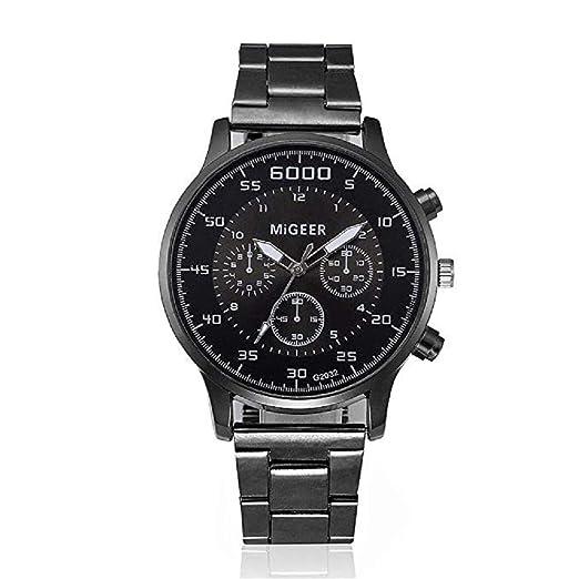 Reloj de Cuarzo para Hombre Reloj de Caballero para Hombres Reloj de Cuarzo con Diamantes Dial Digital Banda de Acero Inoxidable Relojes únicos de Cuarzo ...