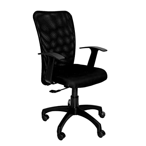CELLBELL® C83 Mid Back Mesh Fabric Office Chair [Black]