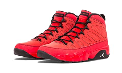 new style 60312 510db Nike Mens Air Jordan 9 Retro Motorboat Jones Challenge Red White-Black  Suede Size