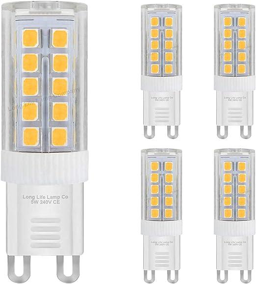 Lot De 5 Ampoules Led G9 5 W Blanc Froid équivalent 40 W Haute Puissance Remplacement De Capsule Halogène 240 V Très Lumineux Amazon Fr Luminaires Et Eclairage