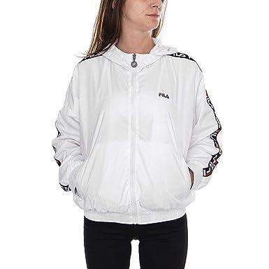 f7eba177eb69 Fila Windbreaker Tilda Hooded White M (Medium)  Amazon.co.uk  Clothing