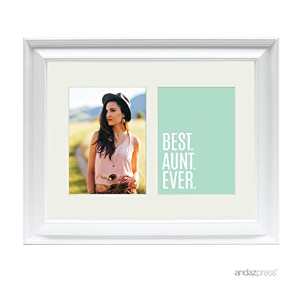 Amazon.com - Andaz Press Double White 5x7-inch Photo Frame, Best ...