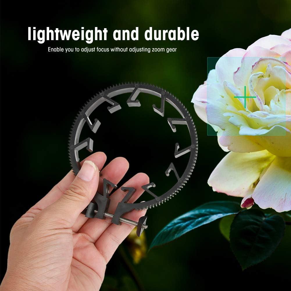 Taidda Follow Focusing Gear Durable Lightweight Plastic Adjustable Zoom Focusing Ring Follow Focusing Gear Accessory for 55-65mm DSLR Lens
