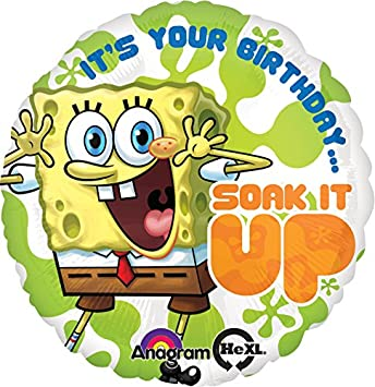Amazon.com: Anagram Internacional de Bob Esponja Cumpleaños ...