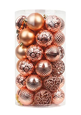 Christbaumkugeln Rosegold.Kaixinroom 60mm Art Carving Christbaumkugeln Beauty Ball