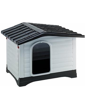 Feplast 87255099 Caseta de Exterior para Perros Dogvilla 90, Panel Lateral Que Se Puede Abrir