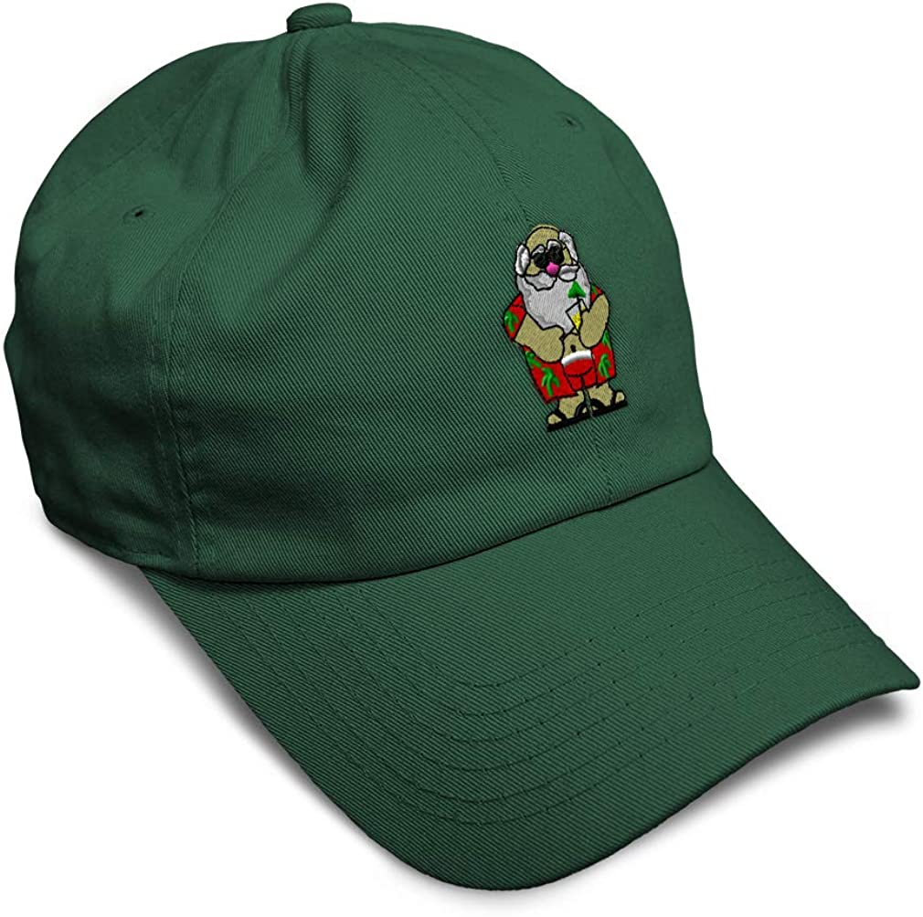 Custom Soft Baseball Cap Beach Santa Embroidery Dad Hats for Men /& Women