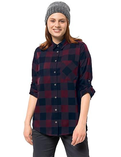 look for stable quality online retailer Jack Wolfskin Damen Holmstad Shirt Bluse für Reise Freizeitbluse  Atmungsaktiv