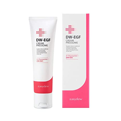 Easydew Dw Egf Cream Pressome 1.69 Fl Oz Award Winning Anti Aging Moisturizing Cream With Human Epidermal Growth Factor   Naturally Produce Collagen To Rejuvenate... by Easydew