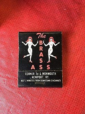Vintage The Brass Ass Newport Kentucky Matches Matchbook Strip Club